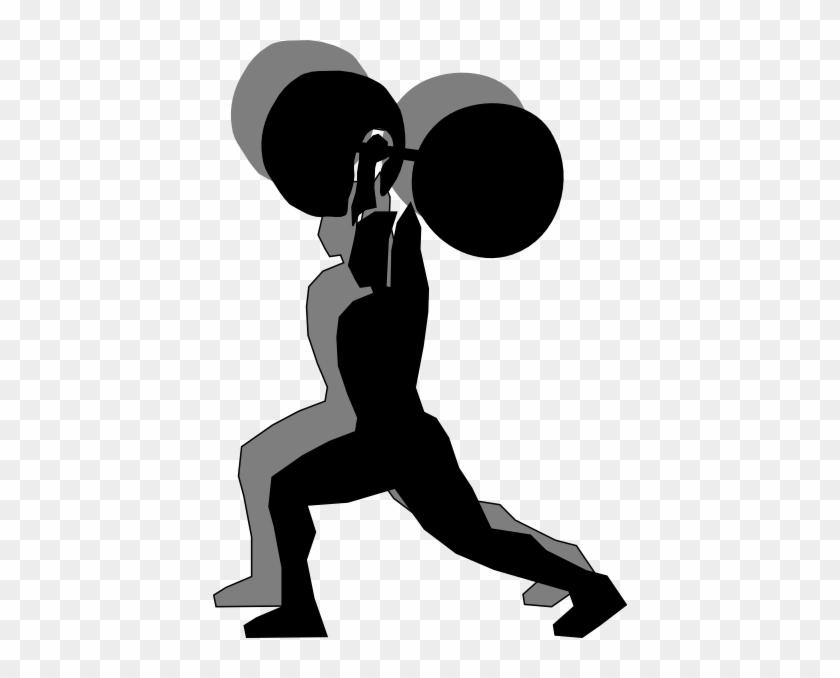 Shadow Lifter Clip Art At Clker - Weight Lifting Cartoon #371941