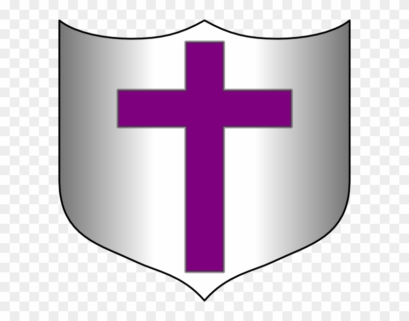 Cross Sword And Shield Clip Art At Clker Com Vector - Shield With A Cross #372021