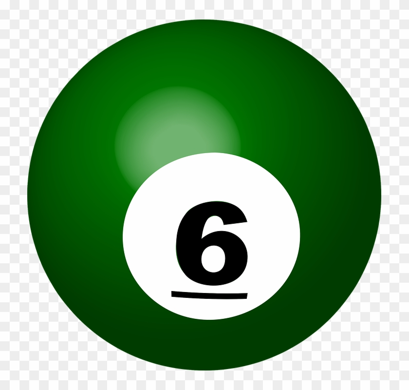 3d Number 10 Cliparts 11, - 6 Billiard Ball #372086