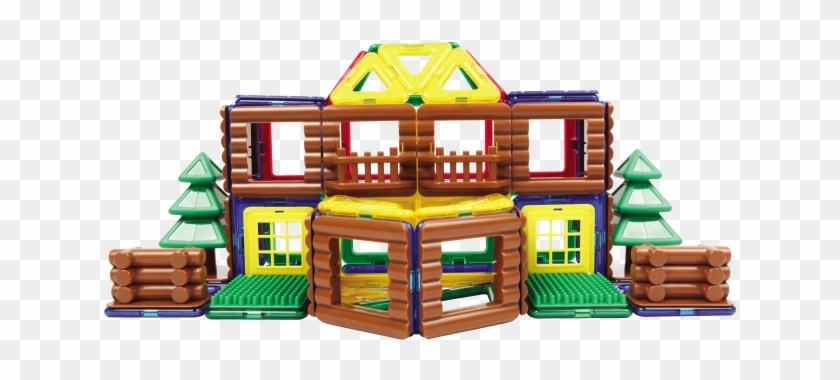 Магнитный Конструктор Magformers Log House Set - Magformers Log House Set Construction Kit - 87 Piece #372529