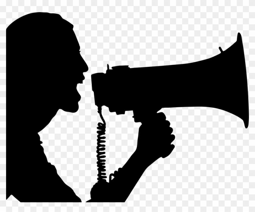 """Speak Up At For Voice Amplification €"""" At3 Center - Silhouette Megaphone #372581"""