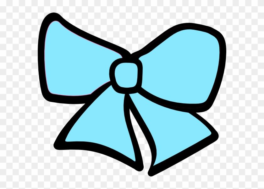 Birth Hair Bow 3 Clip Art At Clker - Blue Cheer Bow Clipart #372627