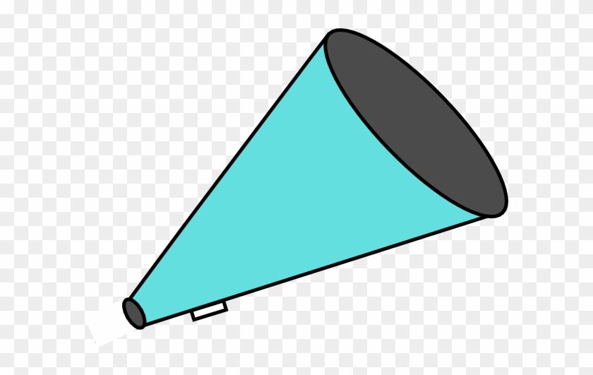 Megaphone Teal Clip Art - Teal Pom Poms Clipart #372634