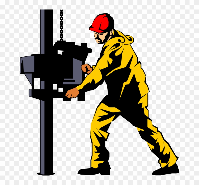 Vector Illustration Of Fossil Fuel Petroleum And Gas - Oil Rig Clip Art #372800