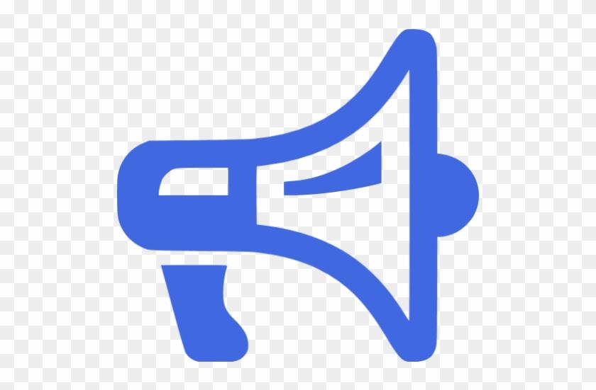 Royal Blue Megaphone 2 Icon - Megaphone Icon Transparent #372873