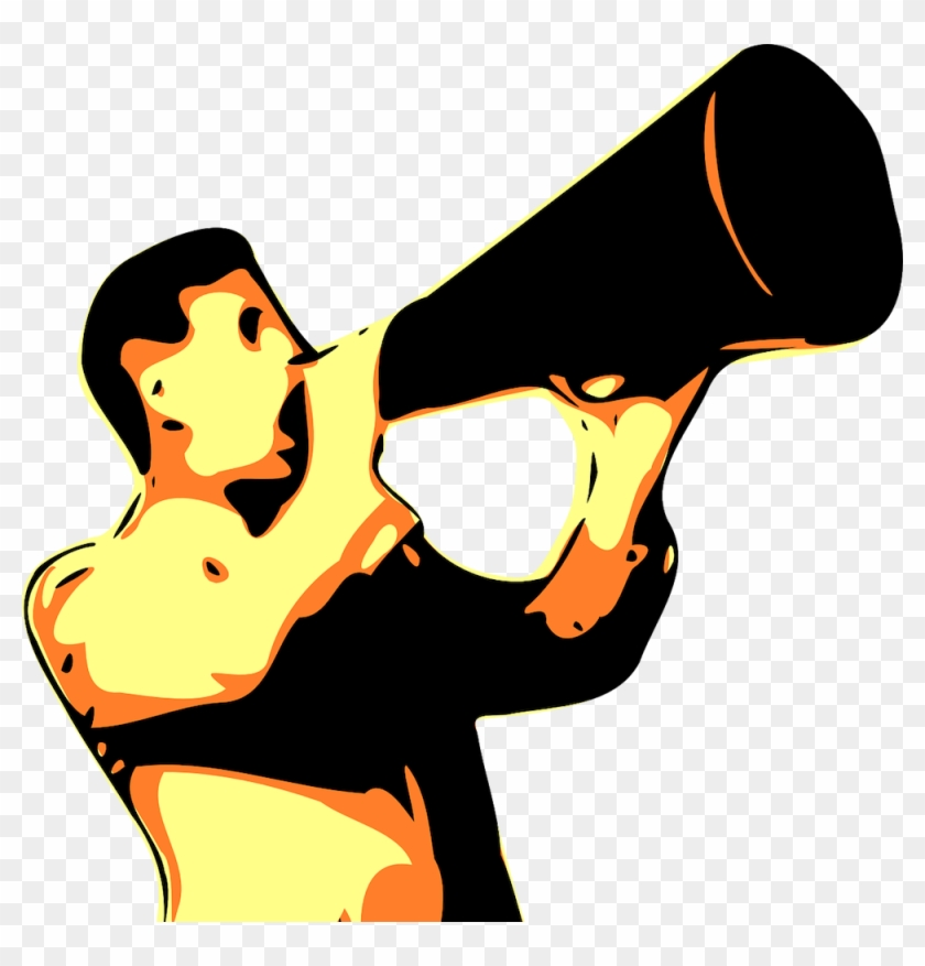Megaphone - Shout Out Clip Art #372895
