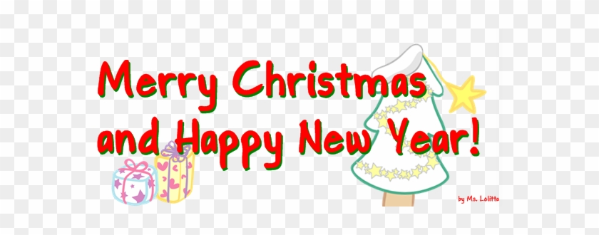 Download Merry Christmas Text Free Png Photo Images - Merry Christmas And Happy New Year Png #372926