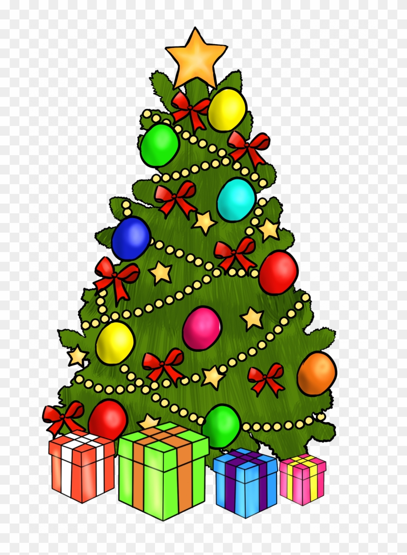 Christmas ~ Merry Christmas And Happy New Year Clipart - Christmas Tree Clip Art With Presents #372993