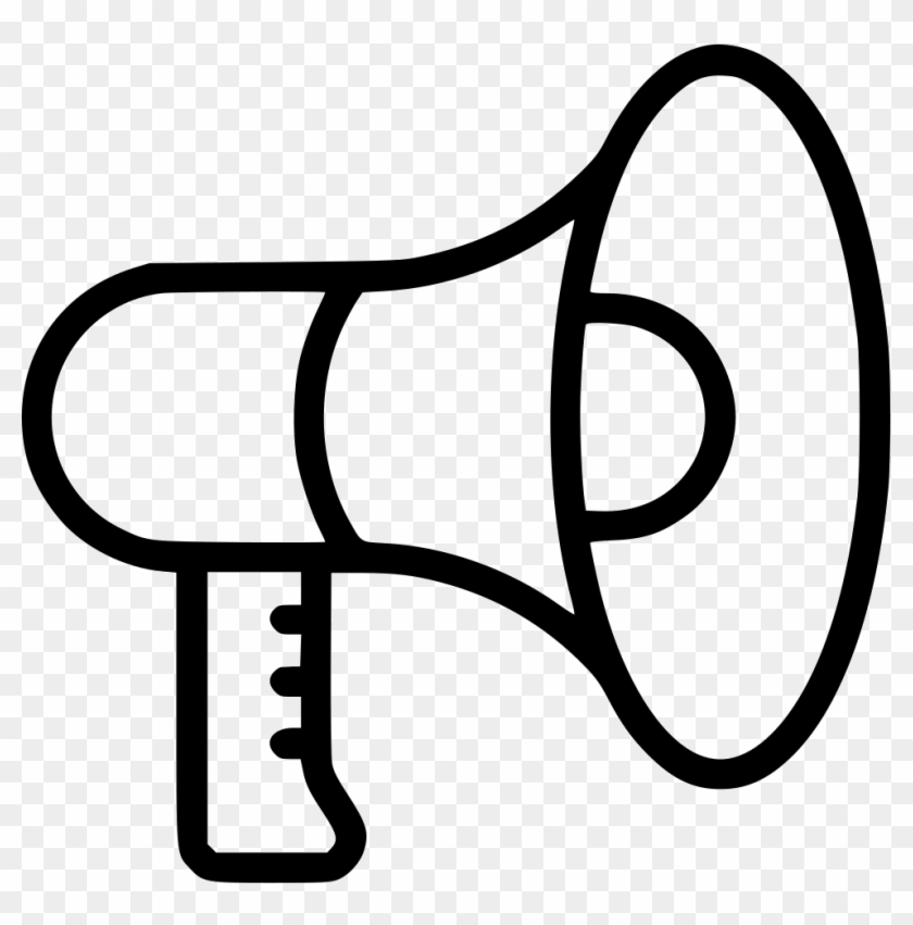 Megaphone Speaker Talk Advertise Loud Promote Comments - Advertise Icon Png #373034