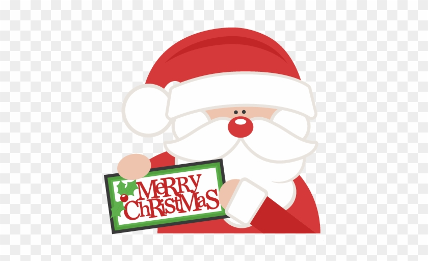 Merry Christmas Santa Svg Scrapbook Cut File Cute Clipart - Miss Kate Cuttables Christmas #373094