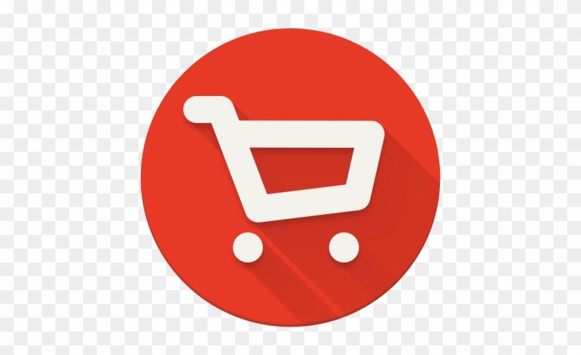 Shopping Cart Circle Icon Png - Social Media Icons Youtube #373093