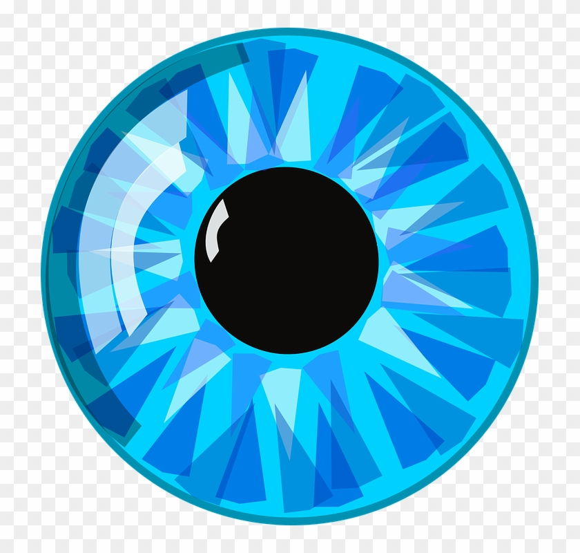 Clipart Of 3d Human Character Holding Blue Number Two - Cartoon Eye #373194