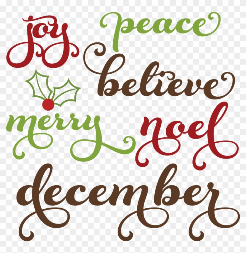 christmas words svg cutting files christmas words clipart