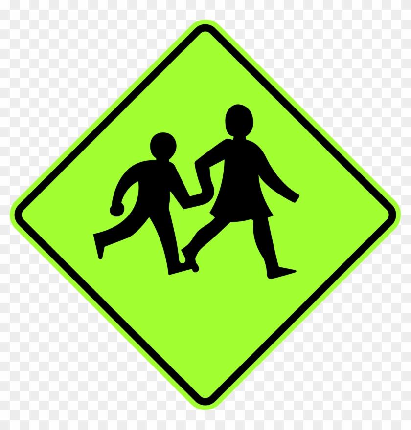 Open - School Pedestrian Crossing Sign #374014
