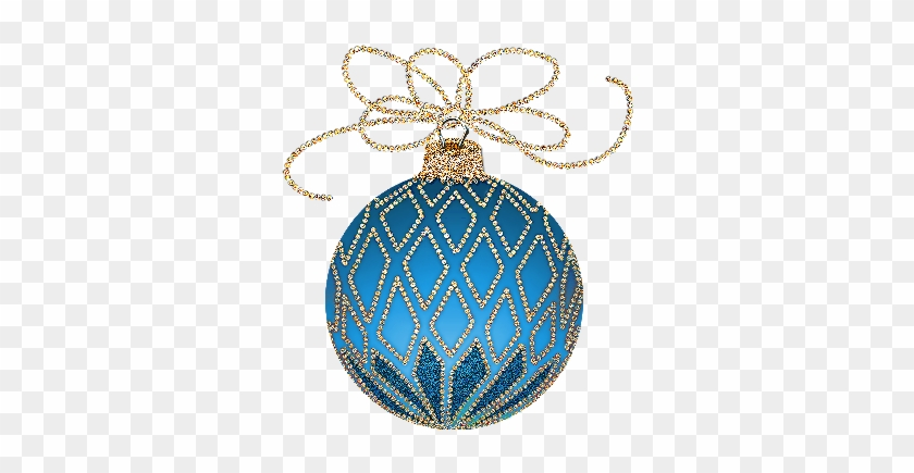 Christmas ornament clip art gold and blue christmas ornaments