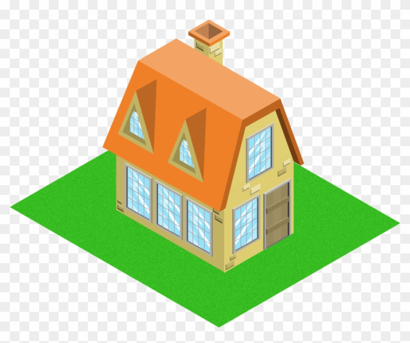 Isometric House Model 2 By Andre Tachibana Isometric Home