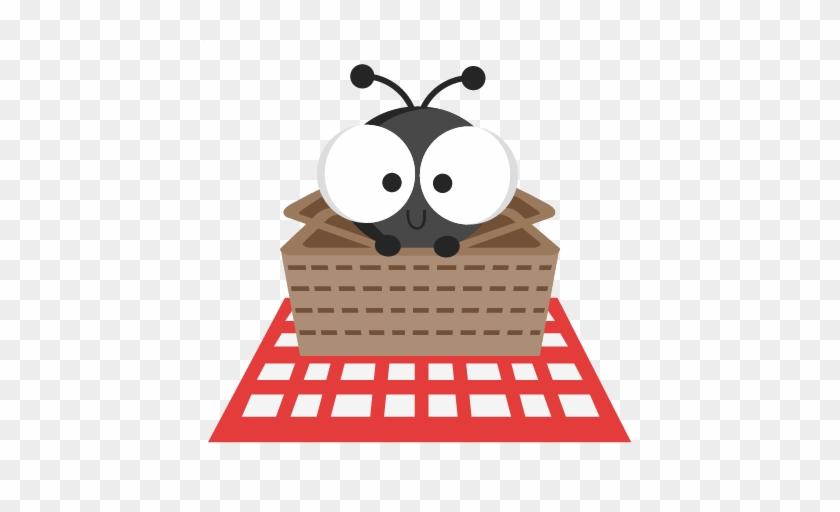 Ant In Picnic Basket Svg Cutting Files Ant Svg Cuts - Cute Picnic Clip Art #374301