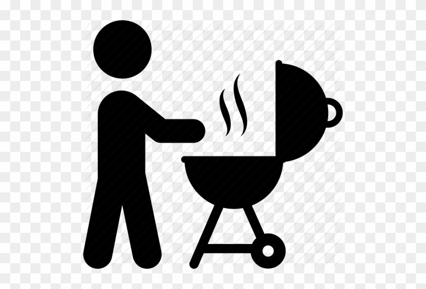 Person Grilling For Magic Club Picnic - Grill Icon #374355