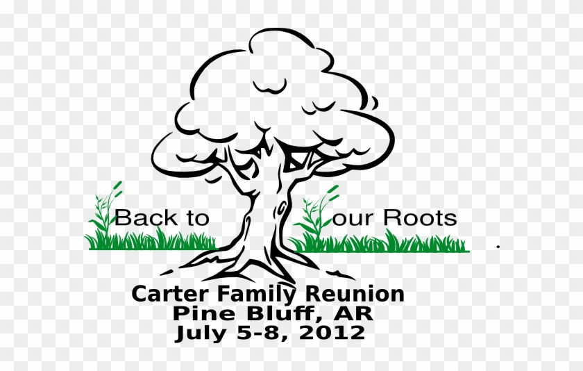Free Family Reunion Clipart Images - Oak Tree Drawing Easy #374564