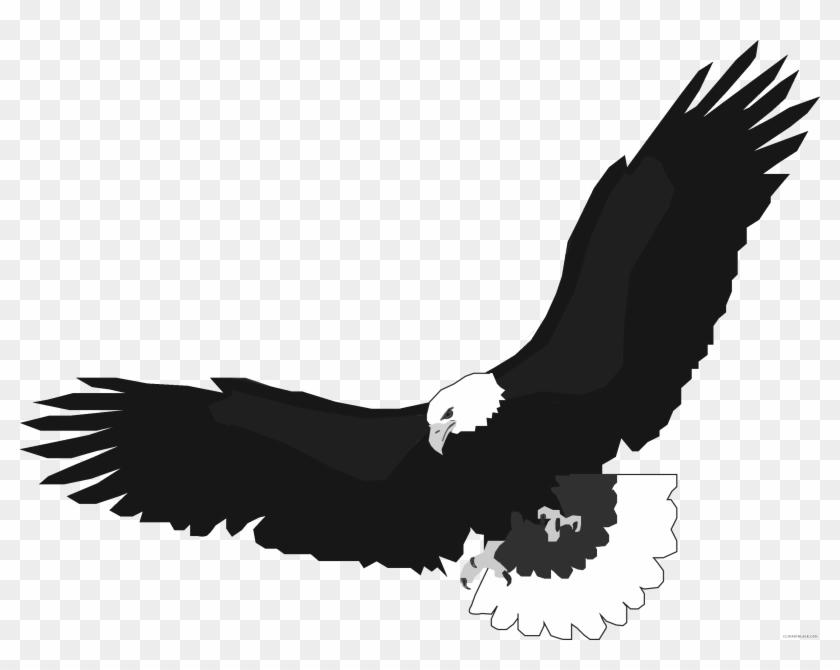 Flying Eagle Animal Free Black White Clipart Images Flying Eagle
