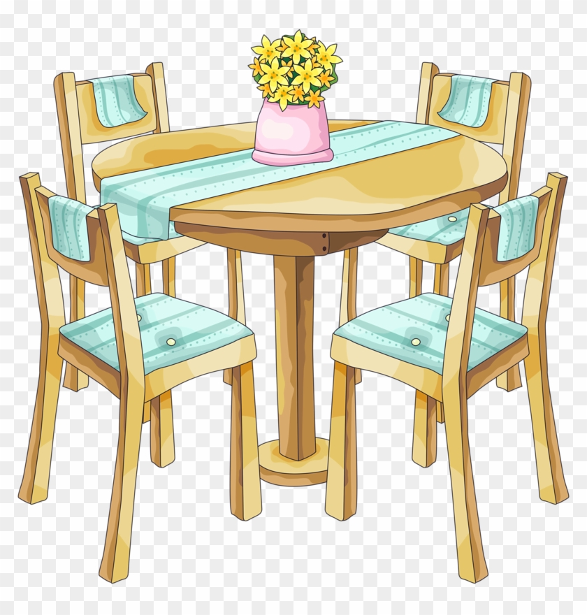 Bg2 - Dining Room Table Clipart #374914