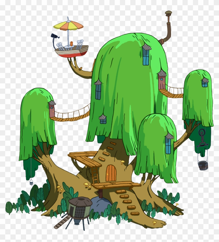 Adventure Time Tree House By Transparentstuff Adventure - Time With Finn And Jake #375088