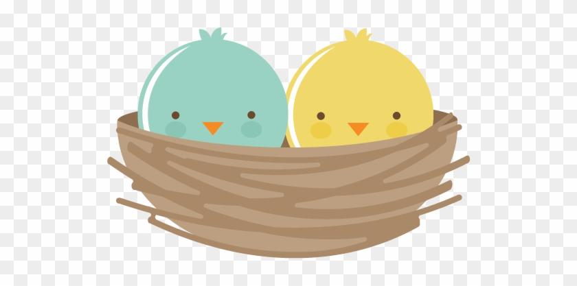 Bird's Nest Clipart Bird Food - Cute Bird Nest Png #375142
