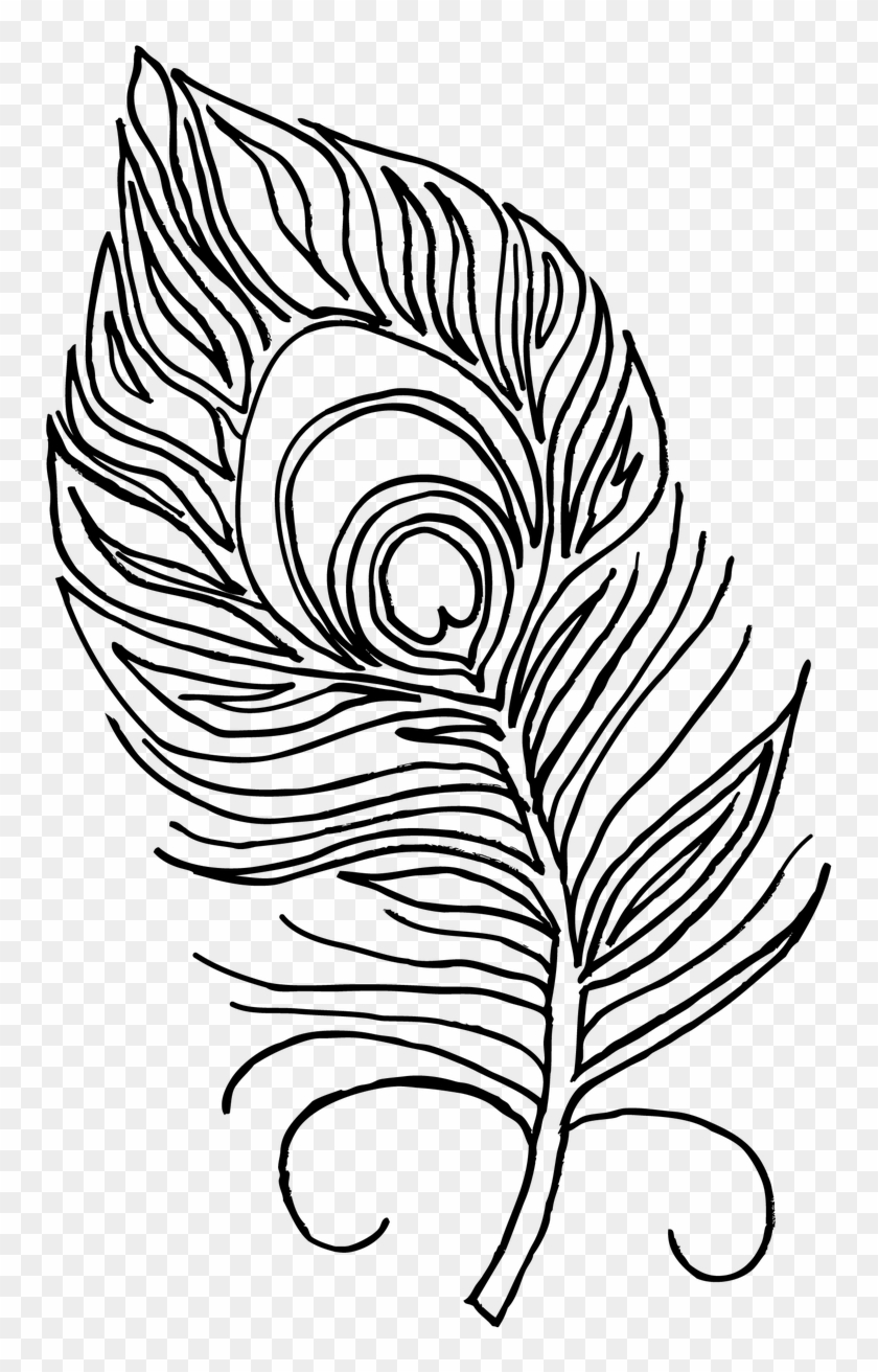 Feather Coloring Page Art Is Good Feather Pages - Peacock Feather For Colouring #375156