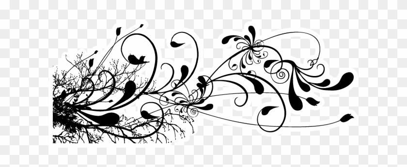 Bumper Stickers Car Tattoos Floral - Floral Swirls Design Png #375756
