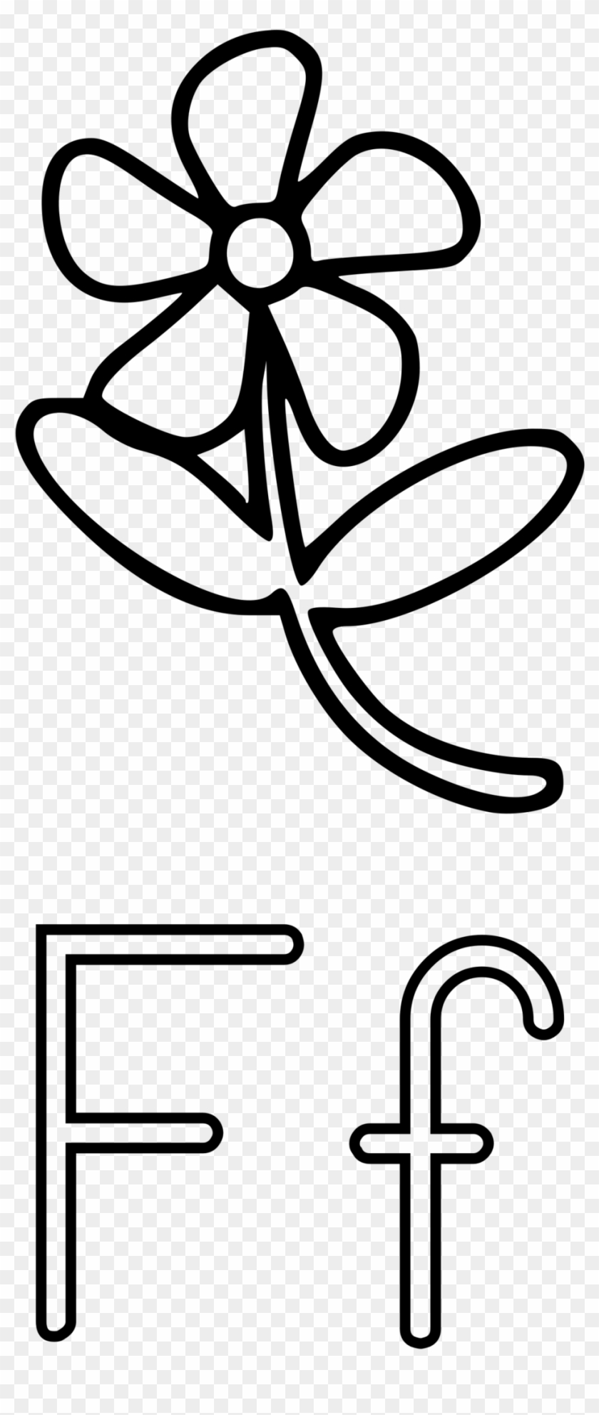 the letter f with a flower transparent free download - objects that