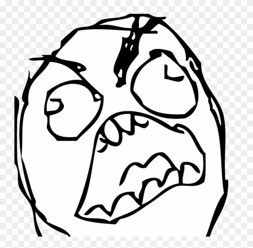 Download Meme Coloring Pages - Troll Face Angry Png - Free ...