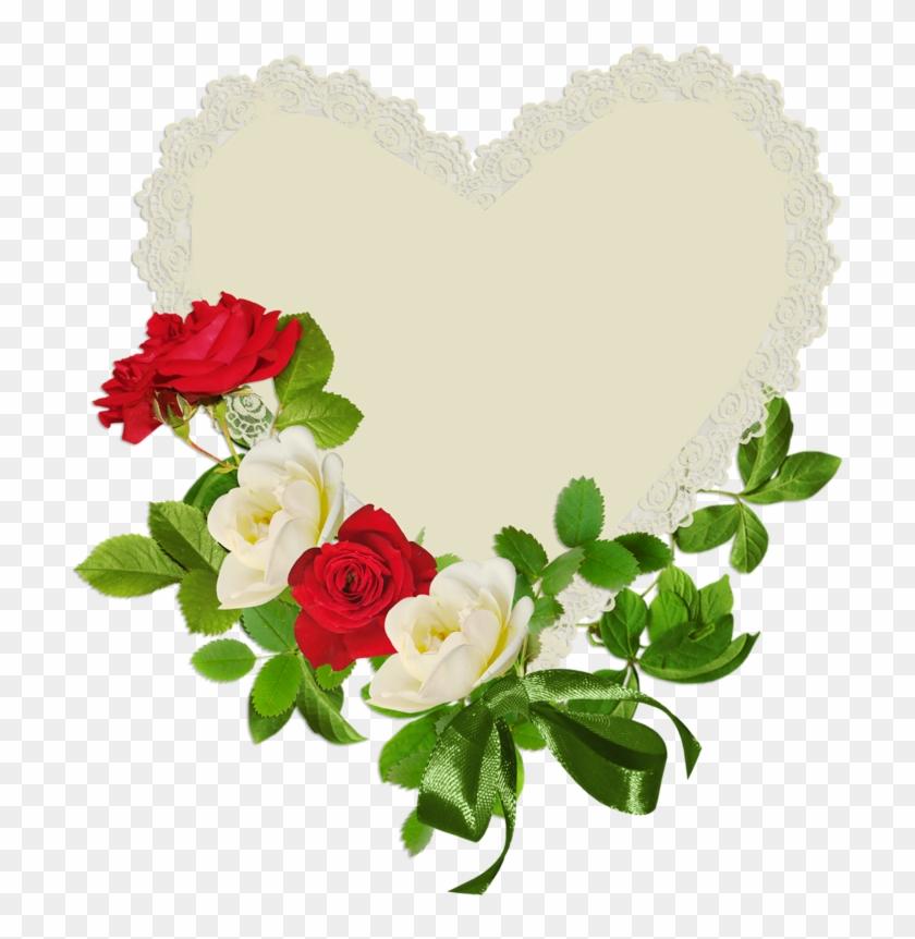 Valentine Heart Imagesvalentine Heartsflower Clipartwild - Зеленые Розы Для Фотошопа #376323