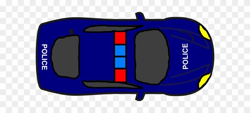 Police Car Cartoon Top View #376594