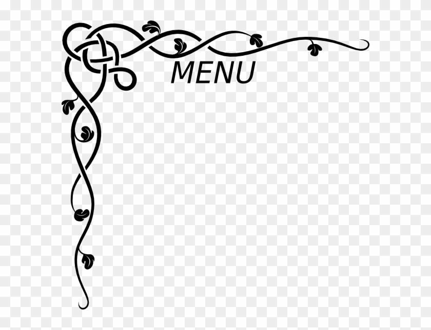 menu clip art at clker border design for invitation card 376743