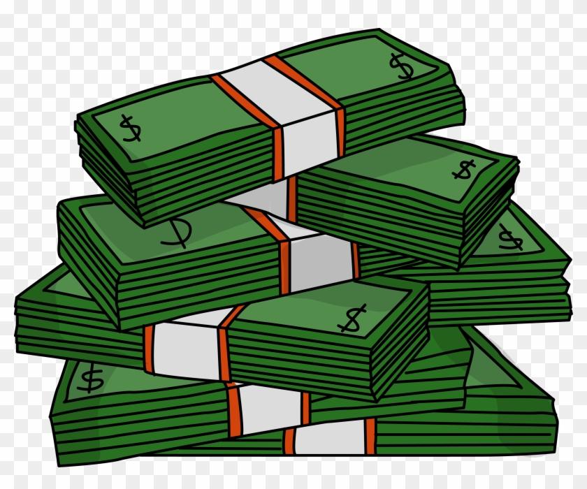 Clip Art Money Bills - Stacks Of Money Clipart #377110
