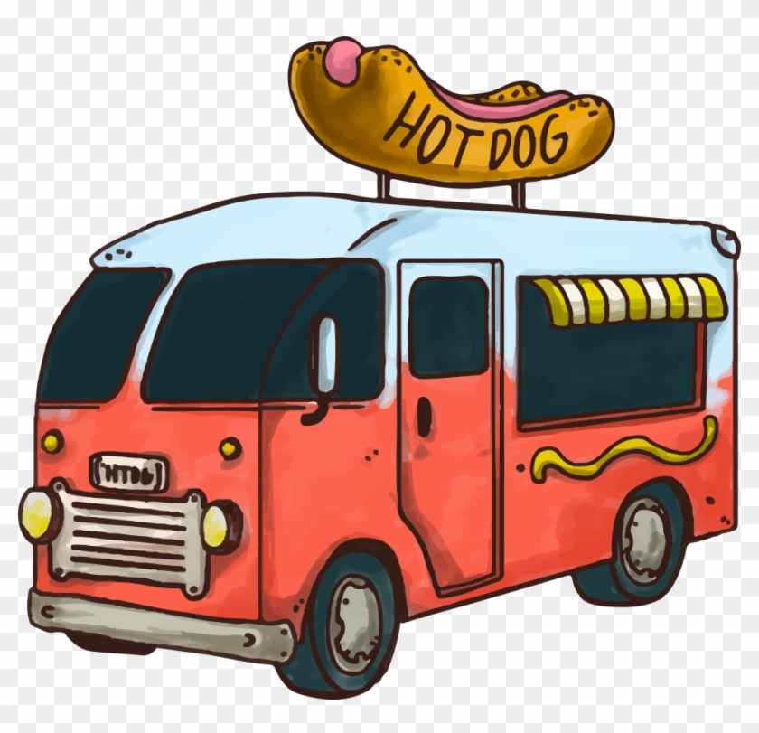 Hot Dog Fast Food Hamburger Car Food Truck - Food Truck Vector Png #377412