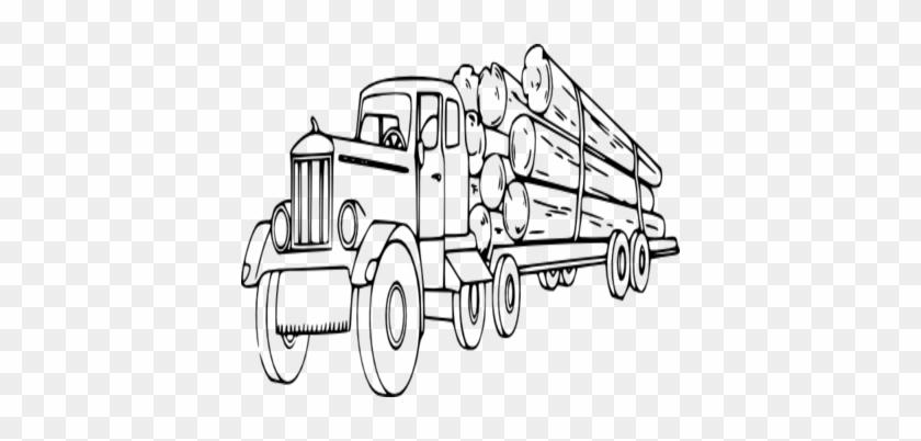 Coloring Trend Thumbnail Size Wood Log Clip Art Truck - Logging Truck Clip Art #377539