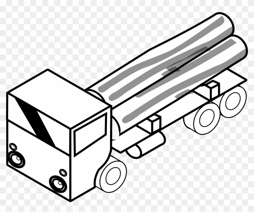 Fire Truck Clipart Black And White Iso Truck 1 Black