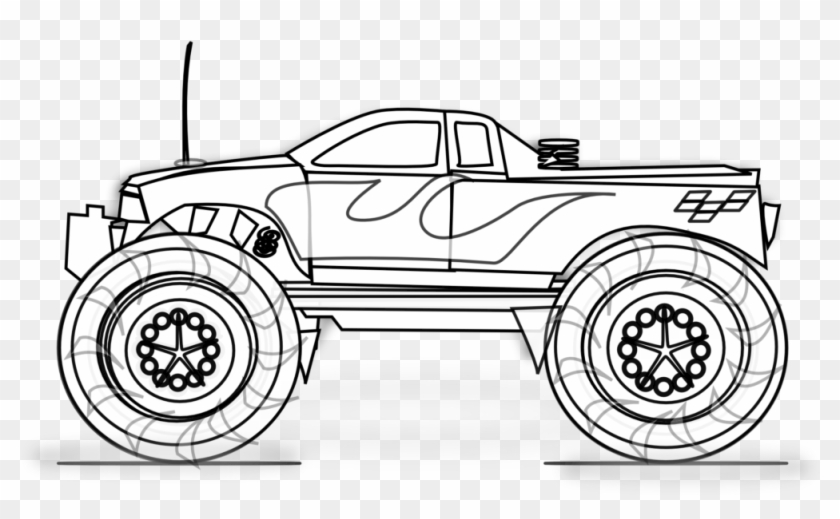 Free Printable Monster Truck Coloring Pages For Kids Trucks
