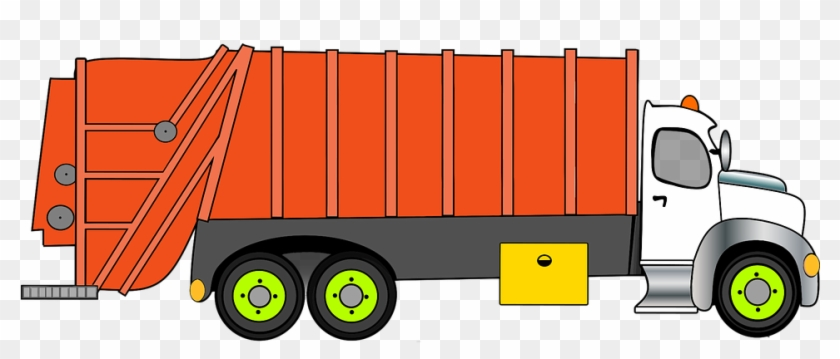 Cartoon Comic Disposal Garbage Recycle Ref - Garbage Truck