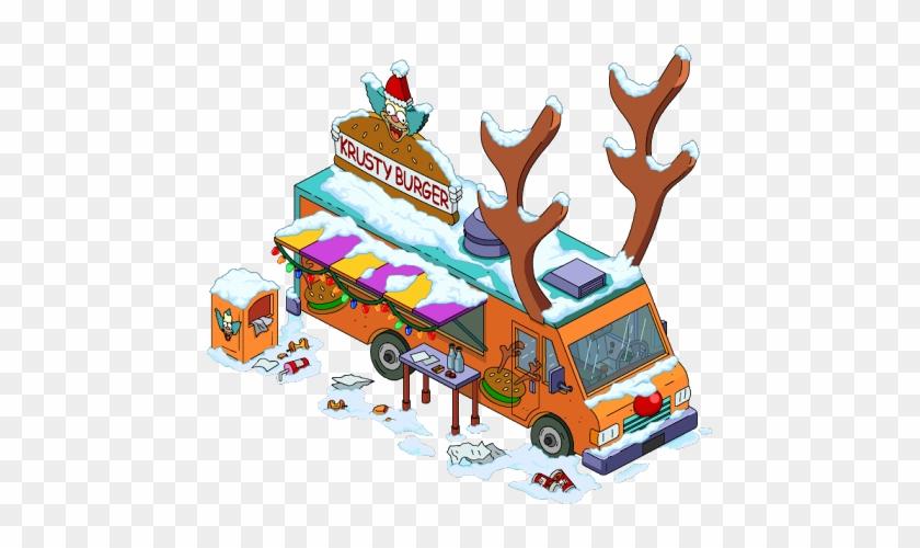 Exotic Petting Zoo Reinder Burger Truck - Krusty The Clown #377736