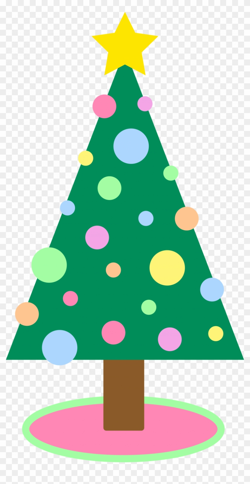 cute simple christmas tree clipart cute christmas tree cartoon