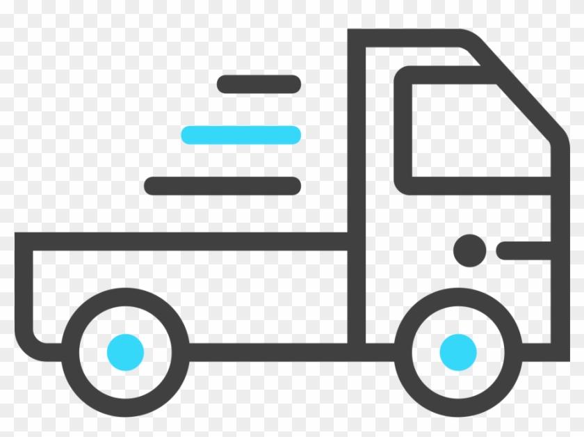 Semi-truck - Fast Delivery Line Icon #377914