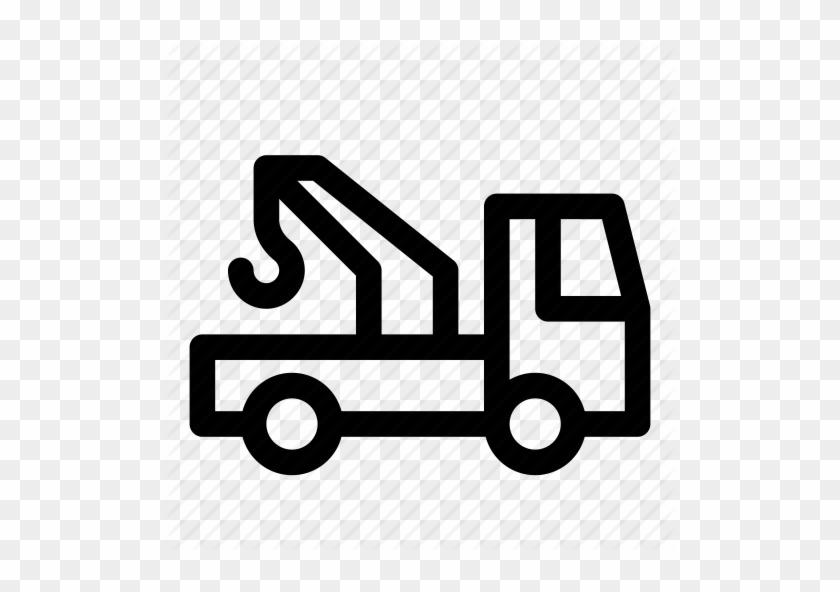Autocrane, Car, Crane, Tow Truck, Transport, Truck, - Delivery Van Icon White #377984