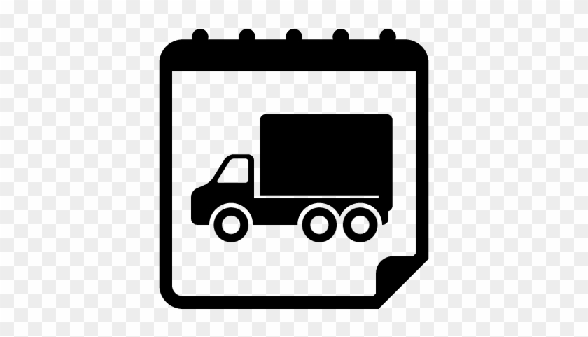 Moving Truck On Reminder Calendar Page Vector - Yufeng Scary
