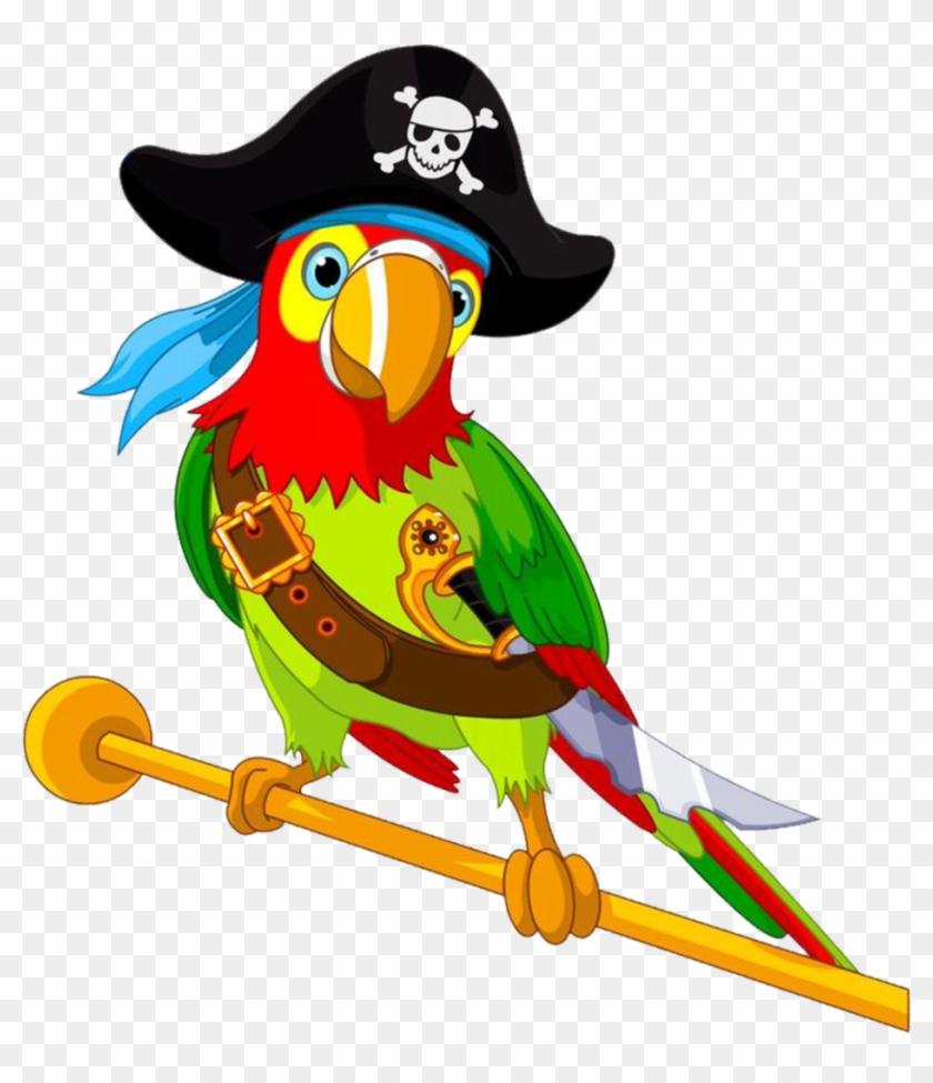 Pirate Parrot Women's Printed Tank - Cartoon Pirate Parrot #378634