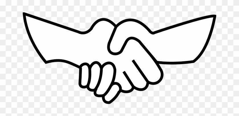 Openclipart-vectors - Pixabay - - Draw Shaking Hands Easy #378847