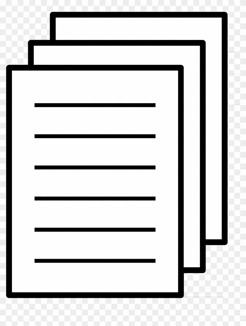 paper document clip art - paper clipart black and white - free
