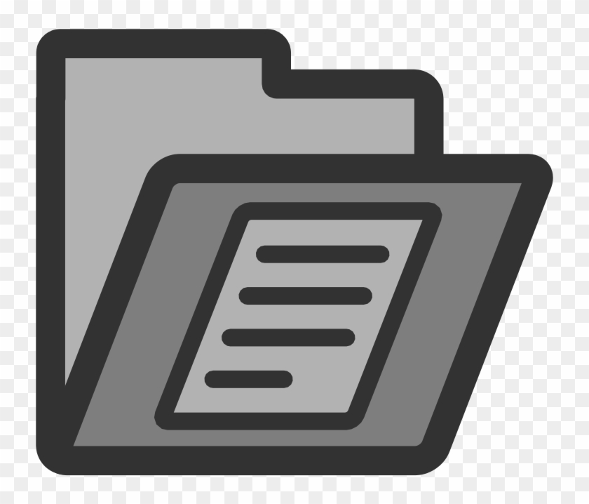 Paper Document Computer Icons Clip Art - Documents Folder Icon Png #379003