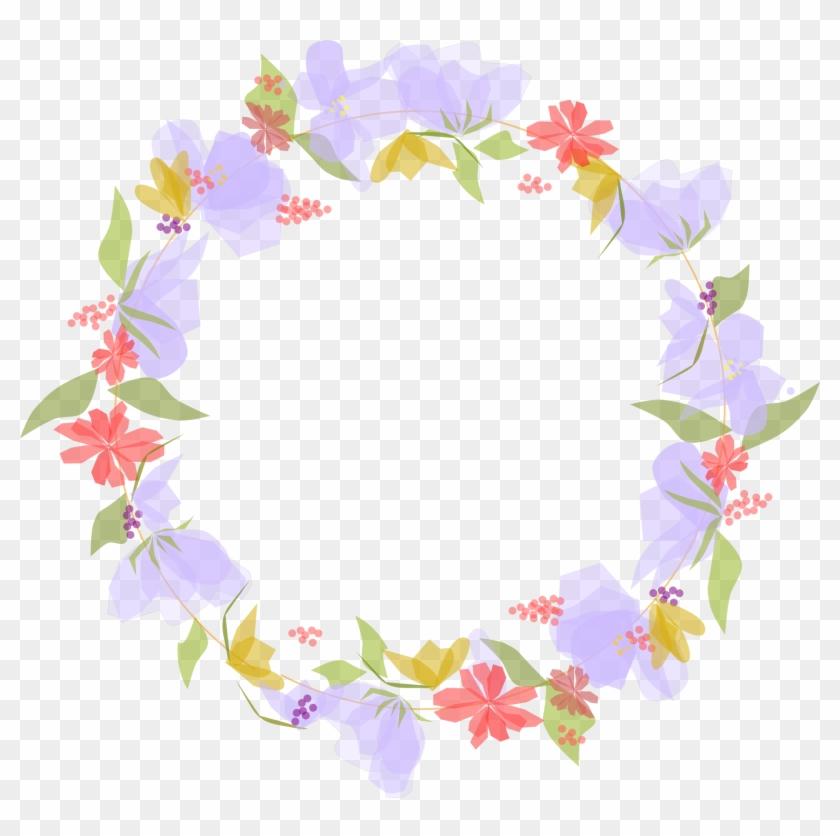 Flowerwreath Inkscapeart Invitation Cards Flowers